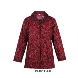 Baju Atasan Wanita Batik - Maroon