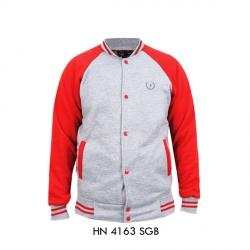 Jaket Pria HN-4163 SGB Abu + Orange