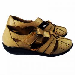 Sandal Kulit Wanita Warna Cream