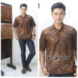 Kemeja Batik Sogan 1