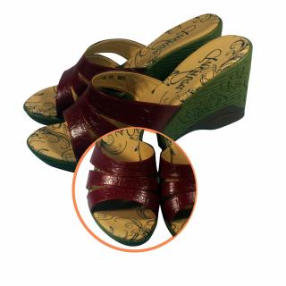 Sandal Kulit Cantik Terbaru - Merah