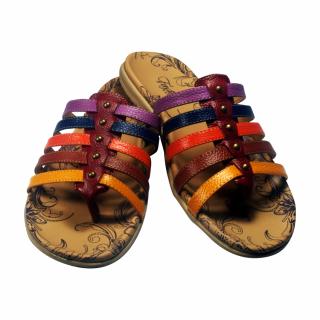 Sandal Wanita Kulit Intako - Warna Warni