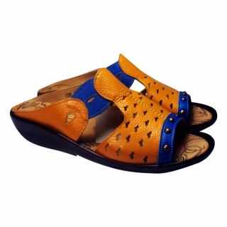 Sandal Kulit Cantik Terbaru - Kuning