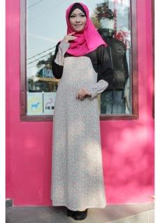 Dress Muslimah FLOWY Bloack