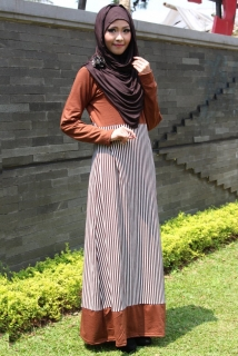 Dress Muslimah Strip Down