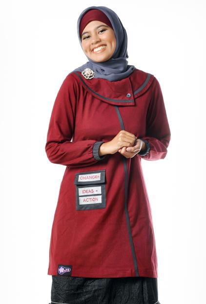 Busana Muslim Wanita (Blus) Mutif Model 35 Merah Hati
