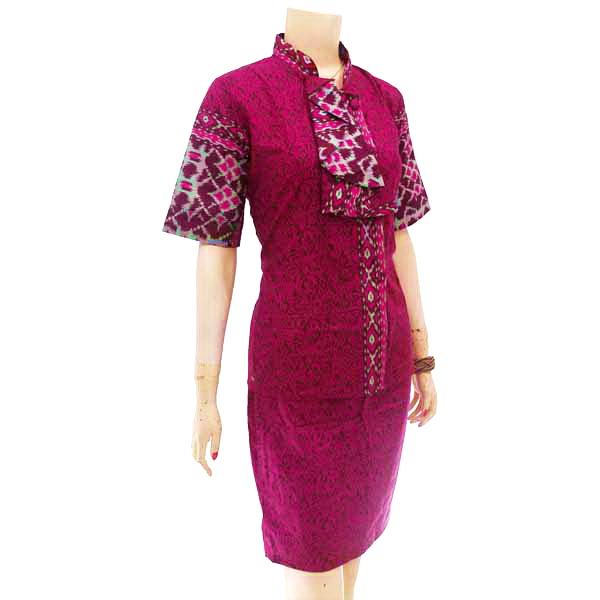 Baju Atasan Wanita Batik - Biru - Mitra Bisnis Lanjar