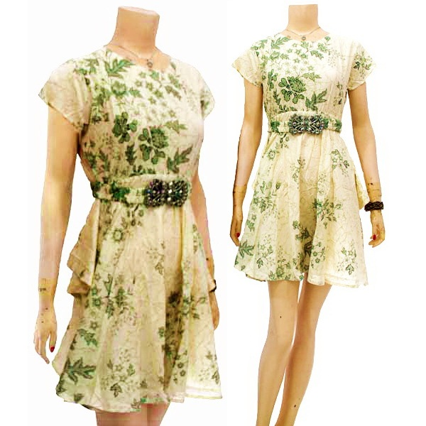 Model Dress Batik Modern Untuk Pesta Terbaru