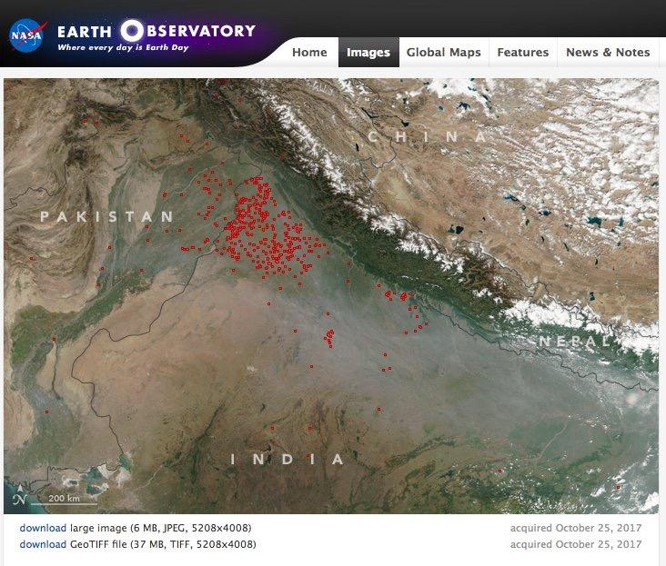 Nasa view on delhi pollution gumiabroncs Images