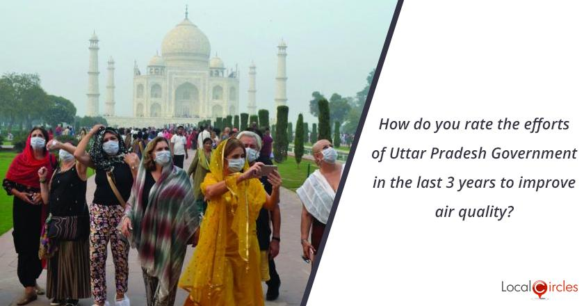 3 years of Uttar Pradesh Government: How do you rate efforts of Uttar Pradesh Government in the last 3 years to improve air quality?