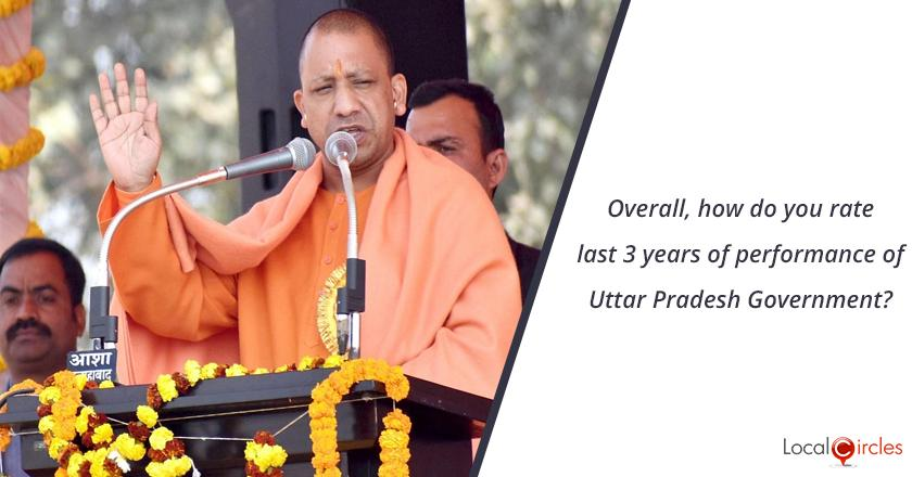 3 years of Uttar Pradesh Government: Overall, how do you rate last 3 years of performance of Uttar Pradesh Government?