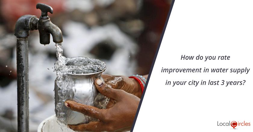 3 years of Uttar Pradesh Government: How do you rate improvement in water supply in your city in last 3 years?