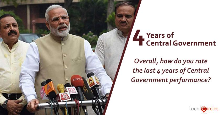 Evaluating 4 years of Central Government: Overall, how do you rate 4 years of Central Government performance?