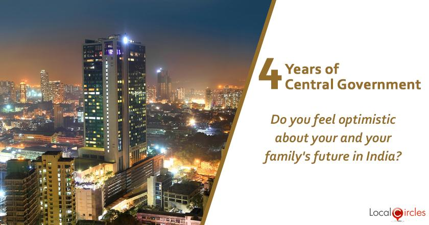 Evaluating 4 years of Central Government: Do you feel optimistic about your and your family's future in India?