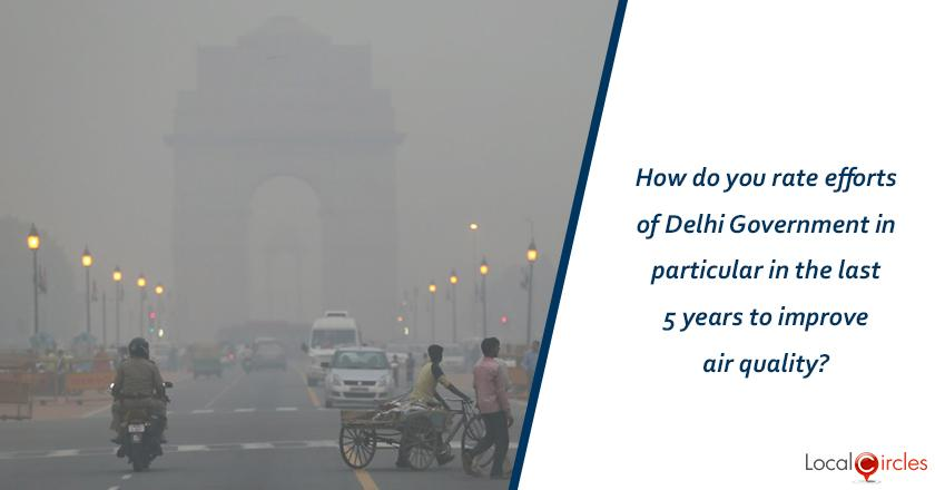 5 years of Delhi Government: How do you rate the efforts of Delhi Government in particular in the last 5 years to improve air quality?