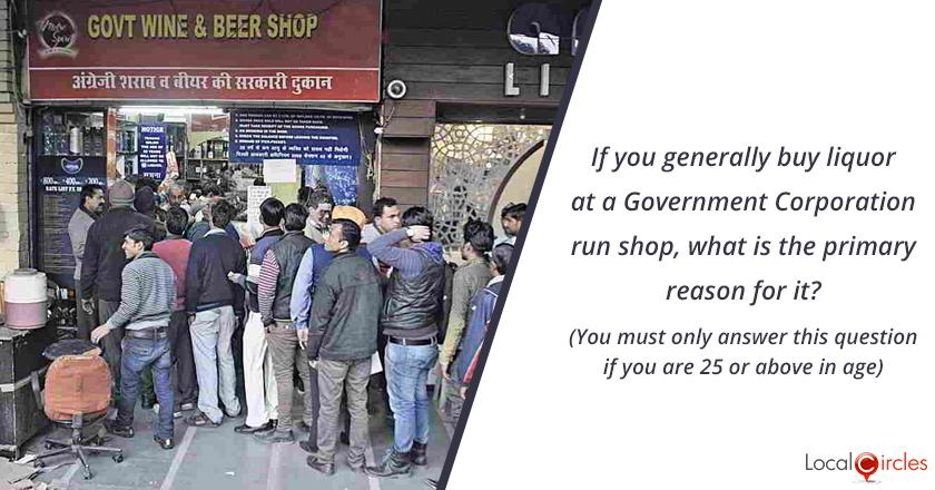 Bringing Transparency in Liquor Industry in Delhi: If you generally buy liquor at a Government Corporation run shop in Delhi, what is the primary reason for it? (You must only answer this question if you are 25 or above in age)