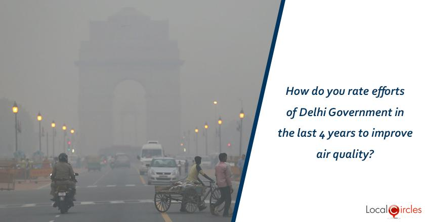 Evaluating 4 years of Kejriwal Government: How do you rate efforts of Delhi Government in the last 4 years to improve air quality?