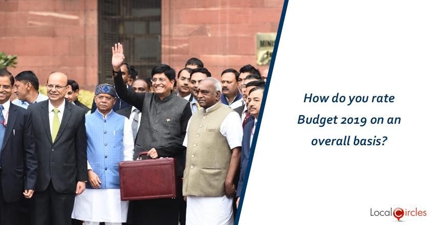 How do you rate Budget 2019 on an overall basis?