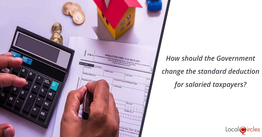Budget 2020: How should the Government change the standard deduction for salaried taxpayers?