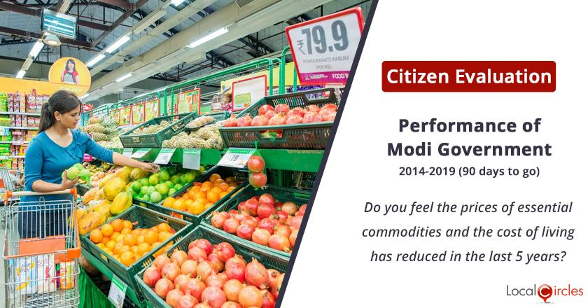 Prices of essential commodities and cost of living under Modi Government: Do you feel the prices of essential commodities and the cost of living has reduced in the last 5 years?