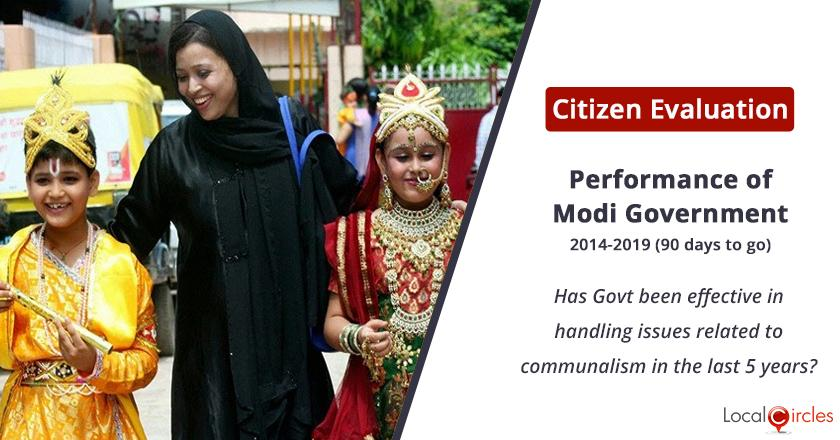 Handling of issues related to Communalism by the Modi Government: Has the Government been effective in handling issues related to communalism in the last 5 years?