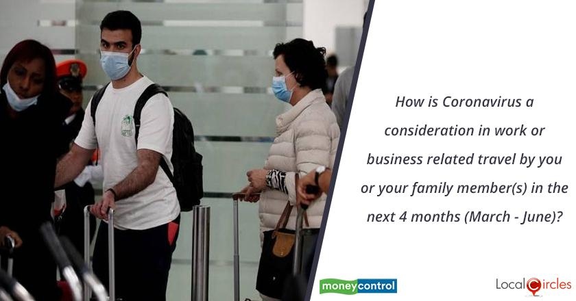 How is Coronavirus a consideration in work or business related travel by you or your family member (s) in the next 4 months (March - June)?