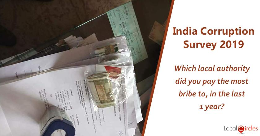 India Corruption Survey 2019: If you paid a bribe, which authority did you pay the most of it to in the last 1 year?