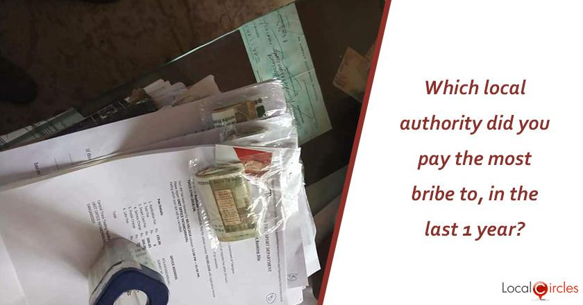Corruption in Uttar Pradesh: Which local authority did you pay the most bribe to, in the last 1 year?