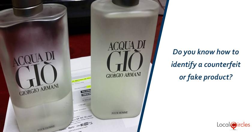 Do you know how to identify a counterfeit or fake product?