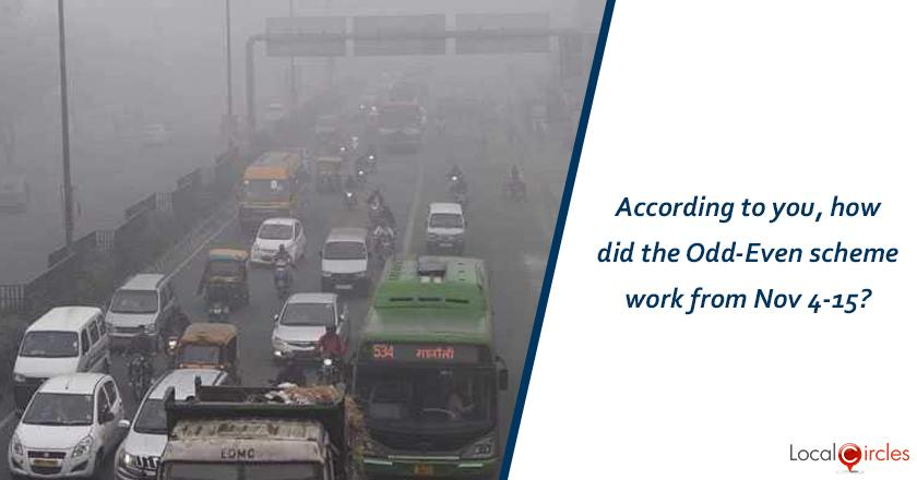 According to you, how did the Odd-Even scheme work from Nov 4-15?