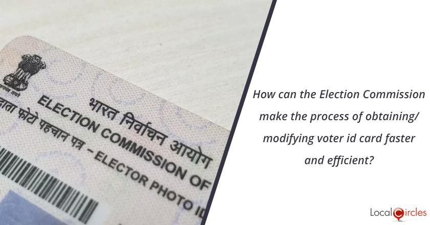 Voter ID card,Change in Voter ID card,Voter registration