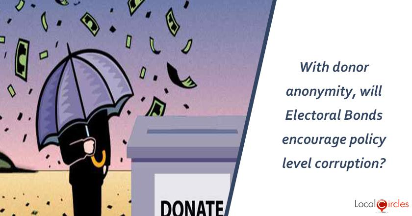With donor identities staying anonymous for electoral bond purchases, will it encourage policy level corruption?