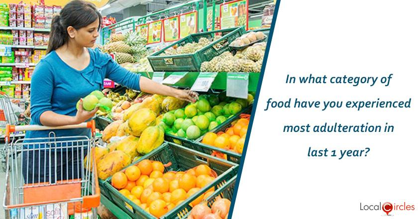 In what category of food have you experienced most adulteration in last 1 year?
