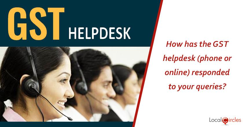 1 year of GST: How has the GST Helpdesk (phone, online or email) responded to your queries in general?