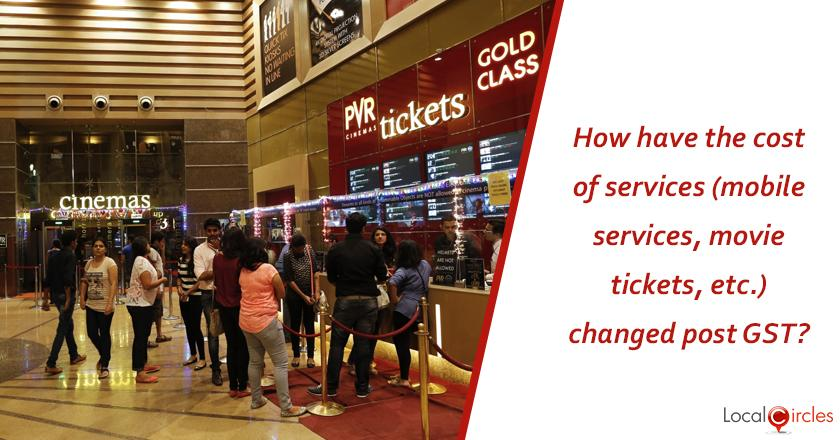 1 year of GST: How have the cost of services (mobile services, movie tickets, etc.) changed post GST?