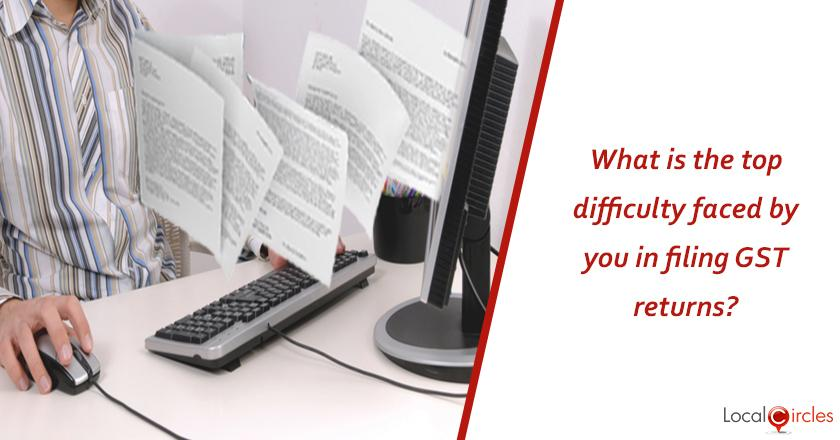 1 year of GST: What is currently the top difficulty faced by your business/company in filing GST returns?