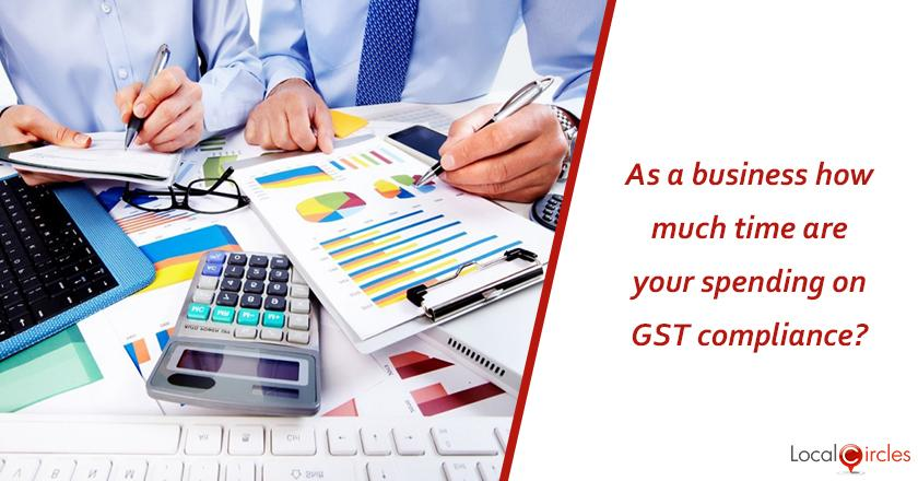 1 year of GST: As a business, how much more time are you spending on compliance with GST versus pre GST business taxation?