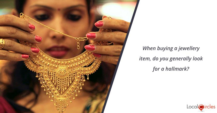 When buying a jewellery item, do you generally look for a hallmark?