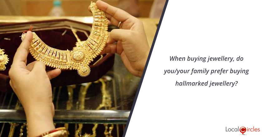 When buying jewellery, do you/your family prefer buying hallmarked jewellery?