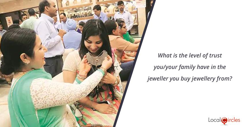 What is the level of trust you/your family have in the jeweller you buy jewellery from?