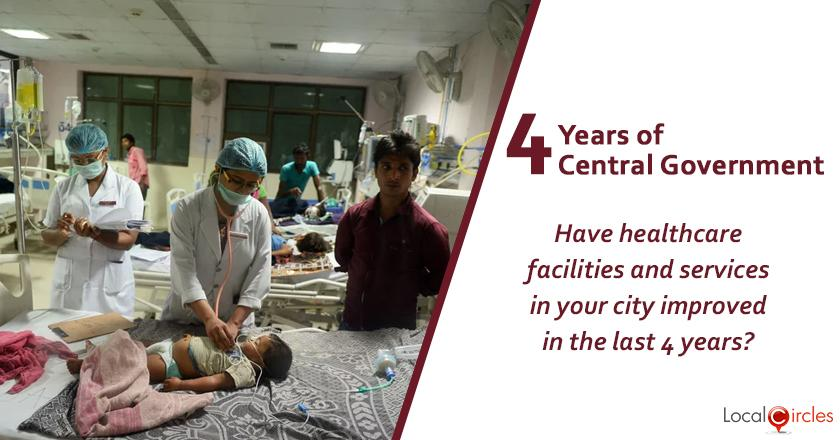 Evaluating 4 years of Central Government: Have healthcare facilities and services in your city improved in the last 4 years?