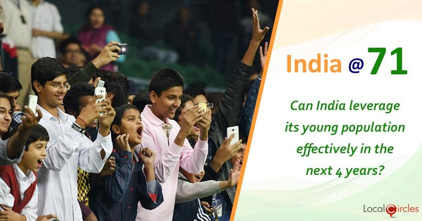 India @ 71: How do you foresee India leveraging its demographic dividend by creating enough employment or entrepreneurship opportunities?