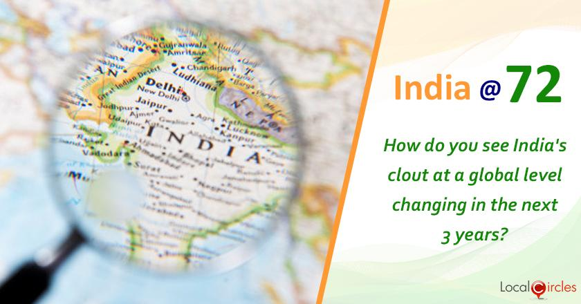 India @ 72: How do you see India's clout in the world changing in the next 3 years?