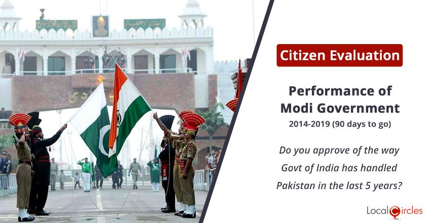 Citizen Evaluation of Modi Government Performance: Do you approve of the way Government of India has handled Pakistan in the last 5 years?