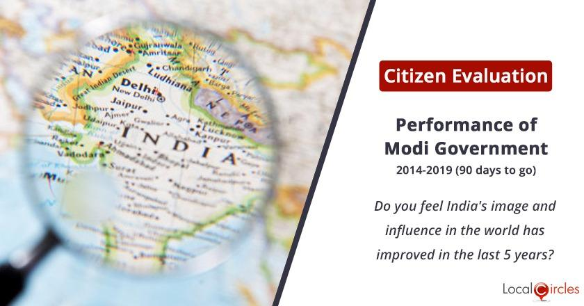 Citizen Evaluation of Modi Government Performance: Do you feel India's image and influence in the world has improved in the last 5 years?