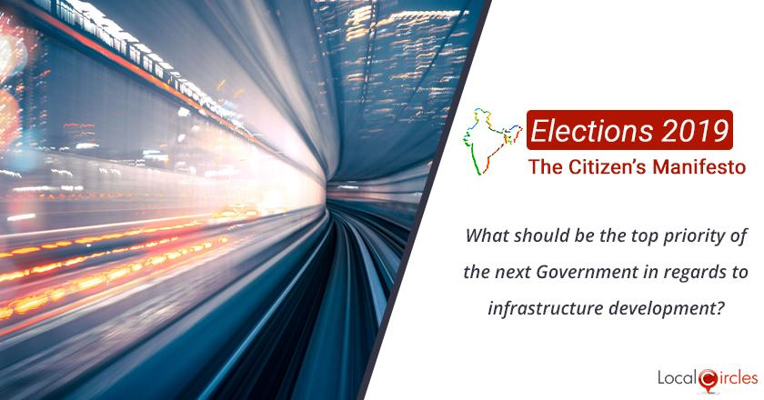 Citizen Oriented Manifesto 2019: What should be the top priority of the next Government in regards to infrastructure development?