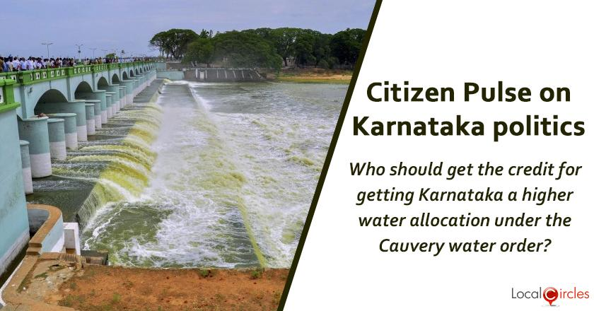 Q4. Who should get the credit for getting Karnataka a higher water allocation under the Cauvery water order ?