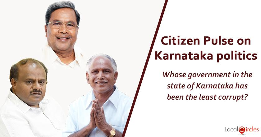 Q1) Whose government in the state of Karnataka has been the least corrupt ?