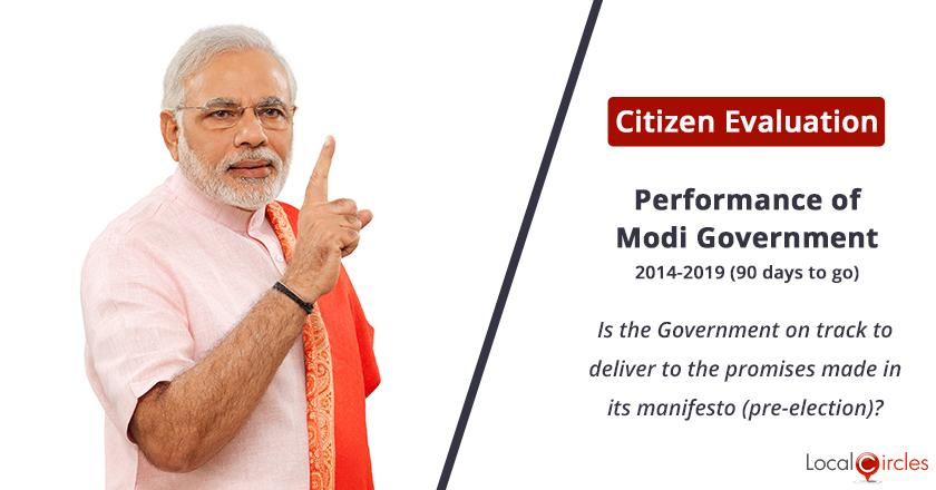 Delivery on promises made under Modi Government: Is the Government on track to deliver to the promises made in its manifesto (pre-election)?