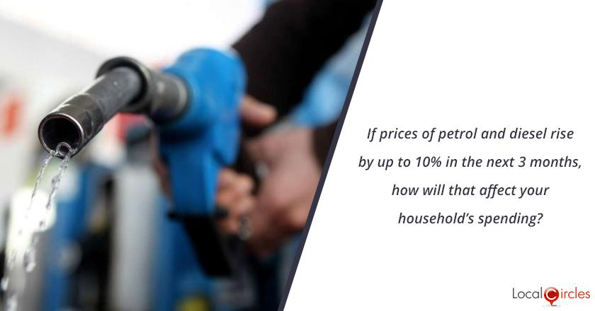 Mood of the Consumer: If prices of petrol and diesel rise by up to 10% in the next 3 months, how will that affect your household's spending?